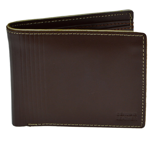 Dark Bown Leather Wallet For Men