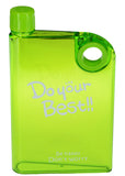 DYB Plastic NoteBook Style 380ml Water / Sports Bottle