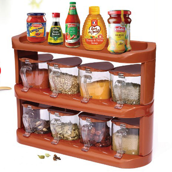 Pretty Neat Plastic Crystal Spices Rack