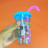 Glory Sip-Sip 250ml Plastic Glass With Straw