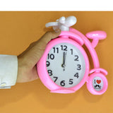 Bi-Cycle Shape Alarm & Table Clock (7.2 X 6.6) inches