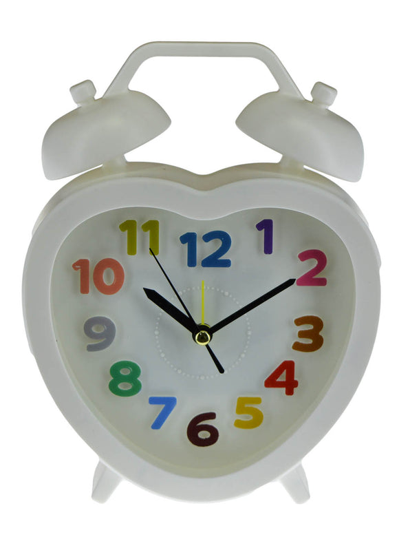 Heart Shape Alarm & Table Clock 7 X 5.5 inches