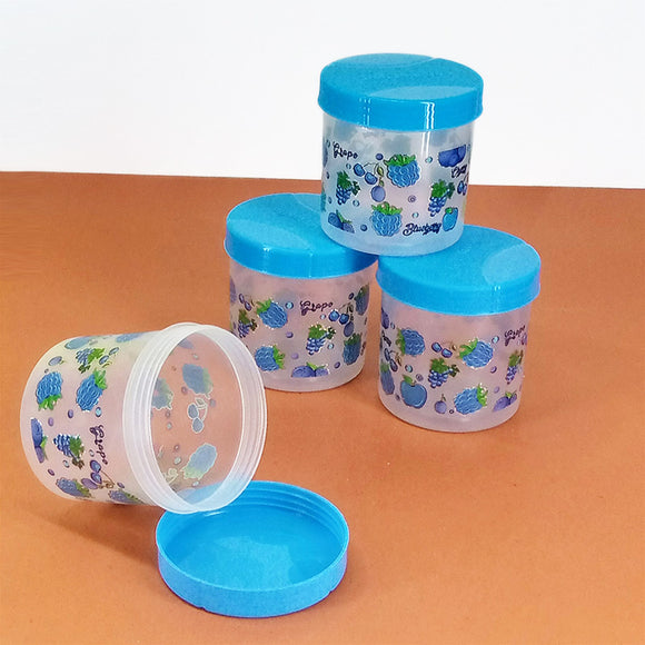 Beli Pack Of 4pcs Small Size Plastic Jars ( Random Colors )