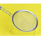 Stainless Steel 6.5 inches Medium-Size Frying Strainer With Wooden Handle