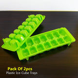 Pack Of 2pcs Plastic Ice Cube Mould Tray ( Random Colors )