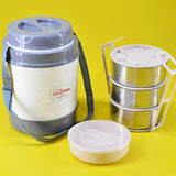 Lunch Time Big Size Tiffin Box (3+1 Bowls) For 2 To 3 Person Serving
