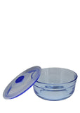 Blue Kingdom Air Tight 6 inches Medium Size Glass Bowl