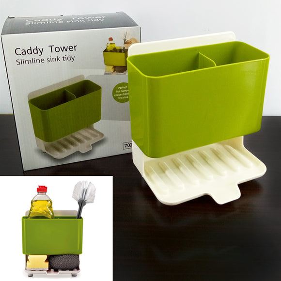 Multi-Purpose Caddy Kitchen Sink & Toilet Brush Organizer & Sponge Holder