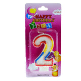 Number 2 Birthday Candle