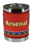 Arsenal Stainless Steel Mug With Transparent Cover