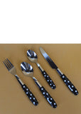 24pcs Spoons, Knives & Forks Stainless Steel Cutlery Set With Plastic Handle
