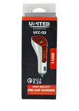 United 6.2 Ampere Car Charger UCC-Q2 (With 3 USB Ports) Qualcomm 3.0