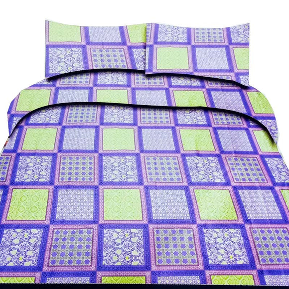 A.R Export Quality King Size Cotton Double Bed-sheet With Two Pillow Covers