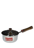 INAM-8 Large Size Stainless Steel 22cm Sauce Pan 3-Litre With Cover