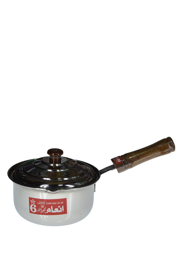 INAM 7.5 inches Stainless Steel Sauce Pan 2 Litre With Cover
