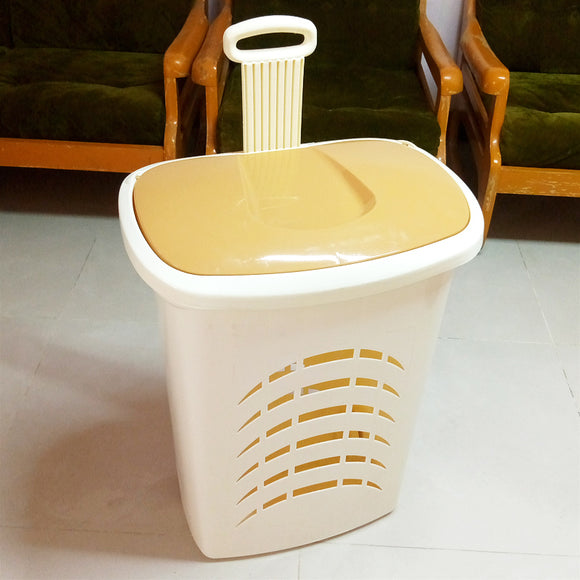 Creative Moovit Plastic Multi-Purpose Laundry Bin With Wheels & Handle
