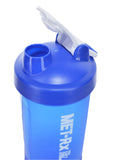 Blue Plastic Sports Gym Shaker Bottle With Spring