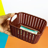 Kiwi Knit-Knot Small Size Storage Rectangle Basket