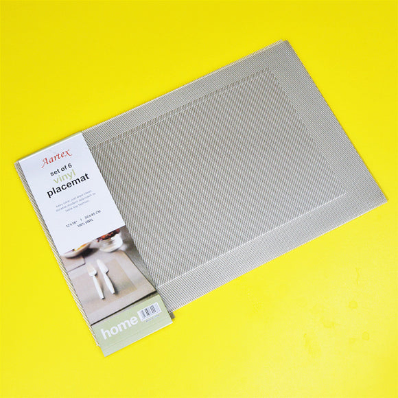 Pack Of 6 Dinning Mats (18 x 12 inches)