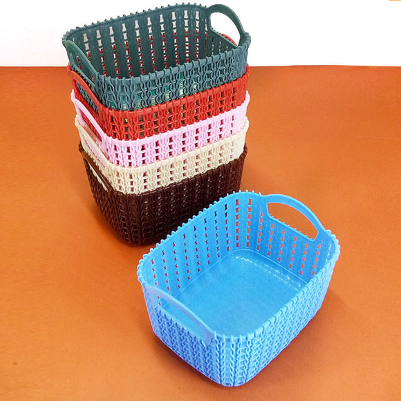 Kiwi Knit-Knot Medium Size Storage Rectangle Basket