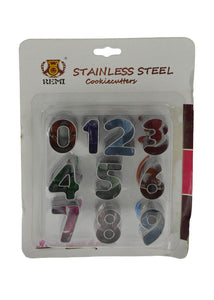 Stainless Steel Numbers Cookie Cutter