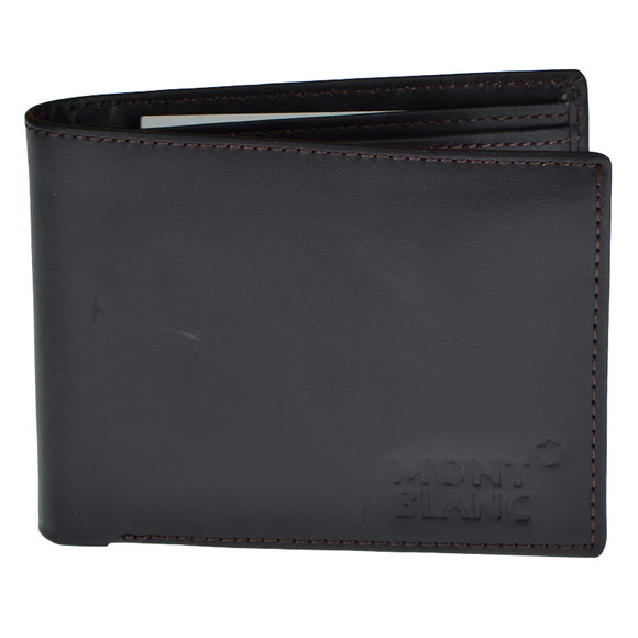 Mont Blanc Black Genuine Leather Wallet For Men