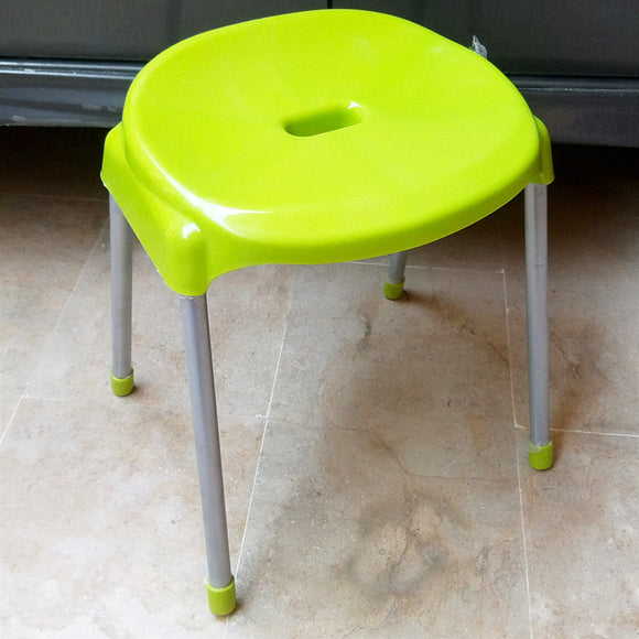 Fello Multi-Purpose Solid Plastic Chair Stool With Stainless Steel Legs