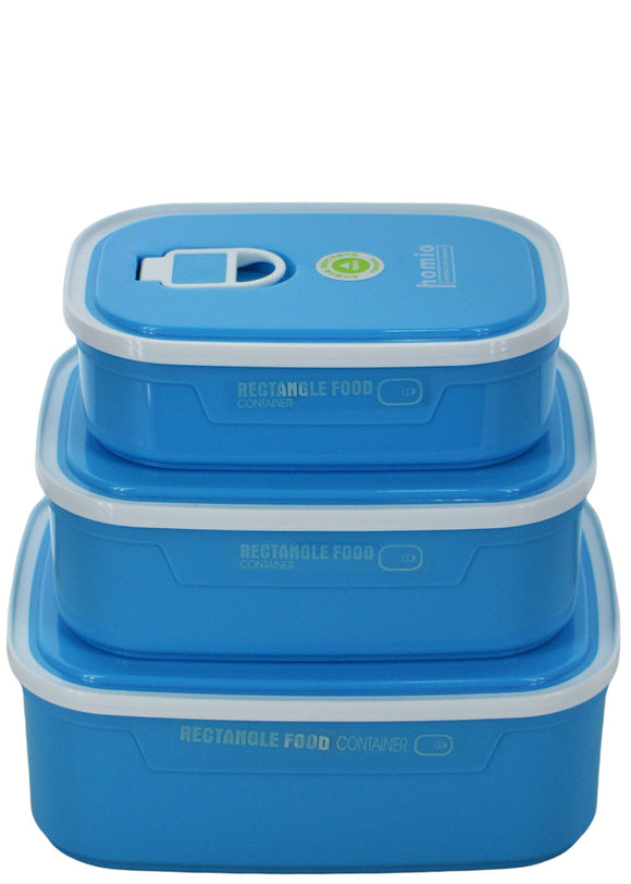 Homio Rectangle 3pcs Bowls & Tiffen Containers