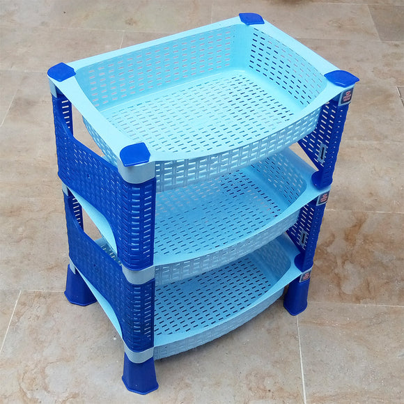 Multi-Purpose 3-Layer Plastic Storage Rack