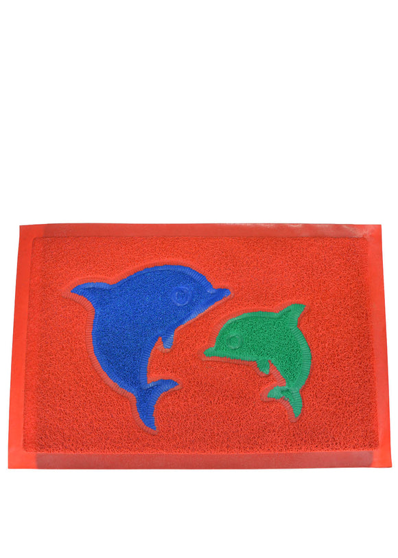 Dolphin Water Proof Rubber Door / Foot Mat 22 X 14 inches