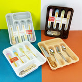 Mustang Plastic Cutlery Organizing Drawer Storage Tray