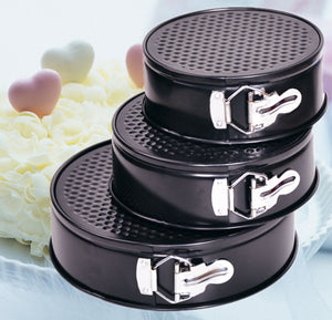 Set Of 3pcs Round Shape Metal Cake Mould With Removable Bottom