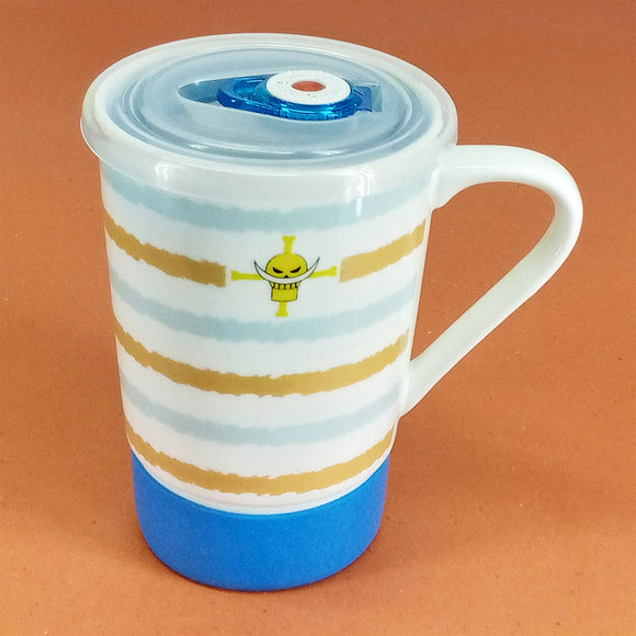 Ceramic 300ml Large Size Mug With Air Tight Plastic Lid