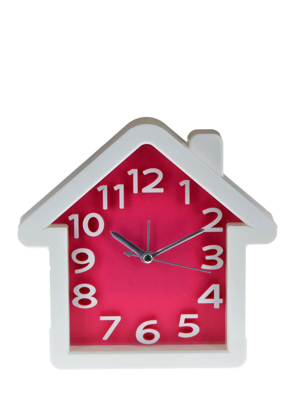 Hut Shape Alarm & Table Clock 6.3 X 6.6 inches