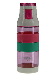 Transparent Plastic Pink Water Bottle 400ml