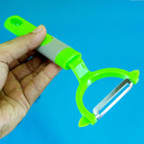 Stainless Steel 1-Sided Vegetables Skin Peeler (Random Color)