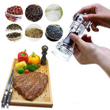 Premium Quality Crystal Acrylic Transparent Manual Fresh Pepper Grinder