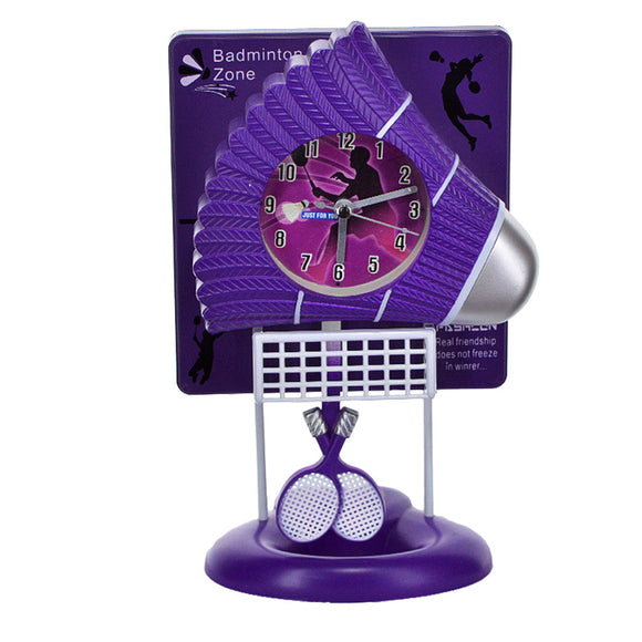 badminton Decor Pendulum Table Clock With Metal Stand