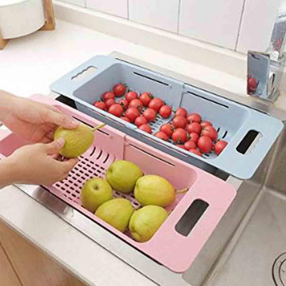 Telescopic Plastic Sink Drain Basket With Adjustable Length