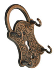 Lock Style Metal Key Holder With 4 Hooks