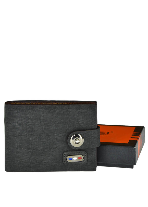 Balisi Front Button Leather Wallet For Men