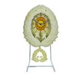 Peacock Decor Pendulum Table Clock With Metal Stand