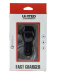 United 3.0 Ampere Car Charger UCC-Q3 (With 1 USB Port) Qualcomm 3.0