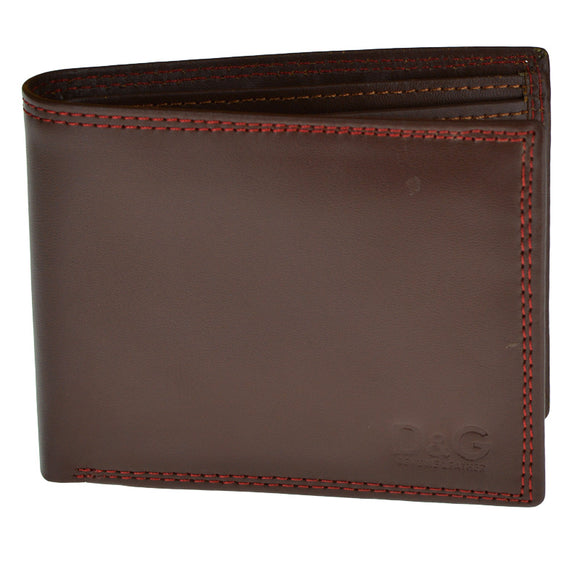 D&G Dark Brown Genuine Leather Wallet For Men