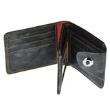 Armani Front Button Leather Wallet For Men