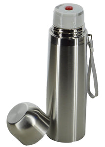 Silver Stainless Steel 500ml Water Bottle