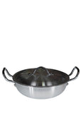 Brite 30cm Silver Karahi With Top Cover