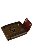 FS Dual Button Leather Wallet For Men