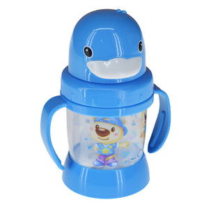 Penguin Baby Plastic 270ml Bottle With Nipple Straw