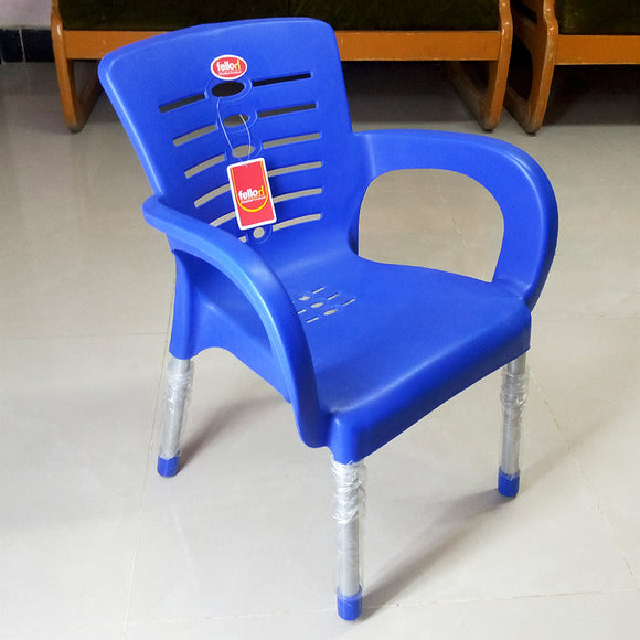 Fello Kids Plastic Chair With Steel Legs